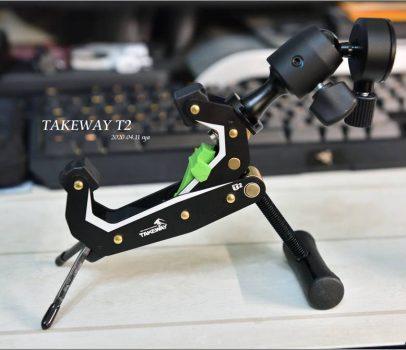 【開箱 心得】Takeway T2 鉗式腳架 | 手機、相機、運動相機的萬用固定架