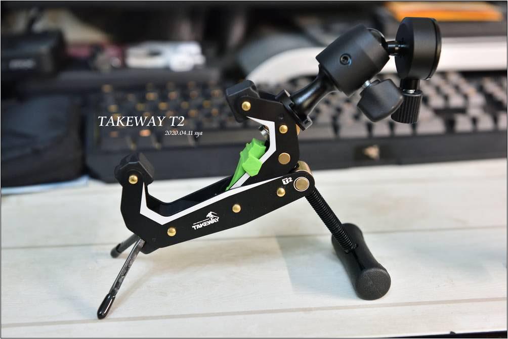 Takeway T2 鉗式腳架 | 手機、相機、運動相機的萬用固定架