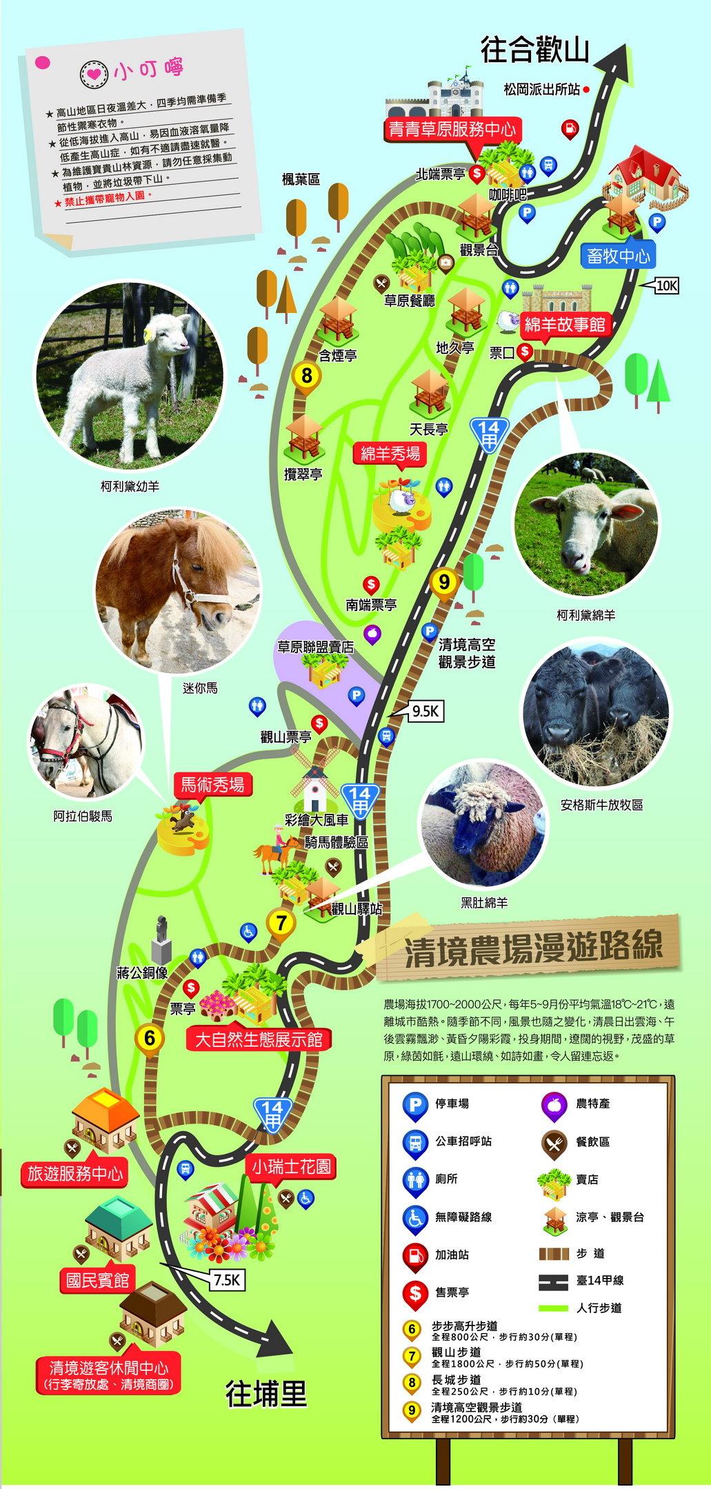 清境農場漫遊路線